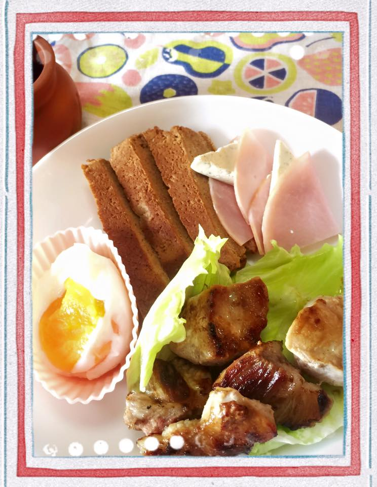 豚肉とプロテインパン