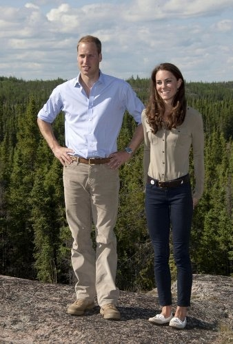 chess of Cambridge in the J Brand 811 Mid Rise Skinny in Navy Luxe Twill - while on a visit to Yellowknife, Canada with Prince William - 5th July, 2011.jpg