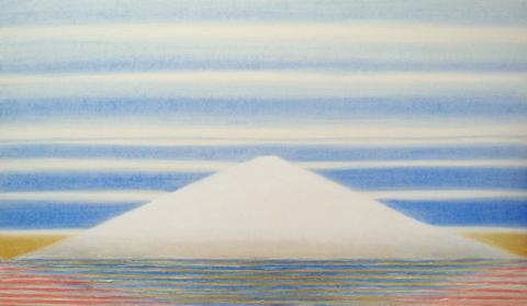 CURRENT W-1524B 富士山からから宇宙へ  20号変形 46x79cm.jpg