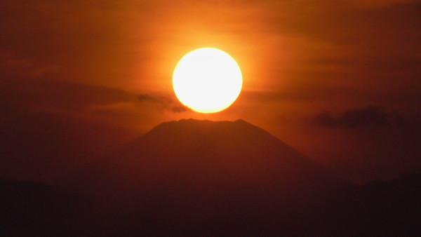 日没時のダイヤモンド富士