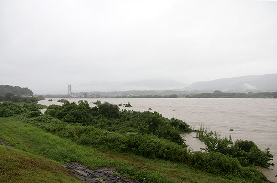 吉野川の増水-03♪