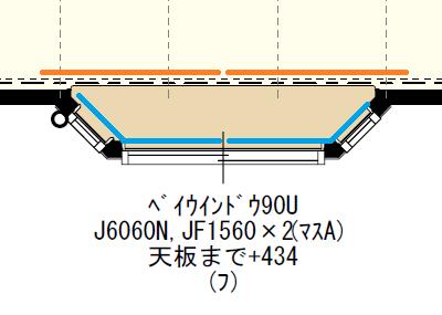 出窓とカーテンとレースカーテンの位置関係