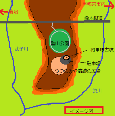 遺跡公園の地図