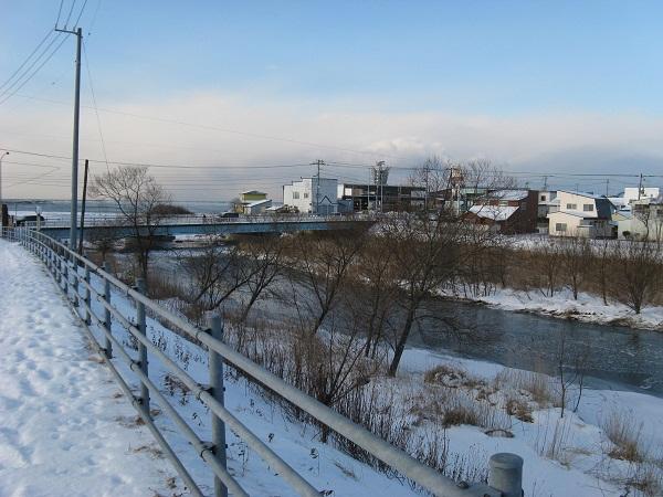 川の凍結2
