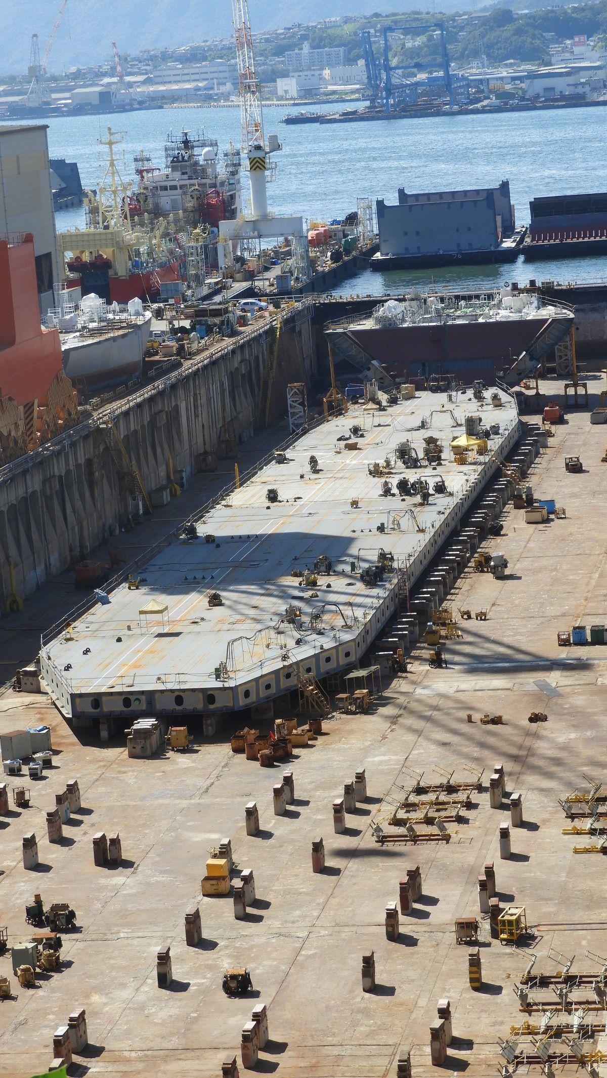 造船所では船底が建造中 新造船の始まり 気ままな生活 楽天ブログ