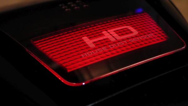 ふとん掃除機 パナソニック MC-DF500G ハウスダストセンサーランプが赤く光る