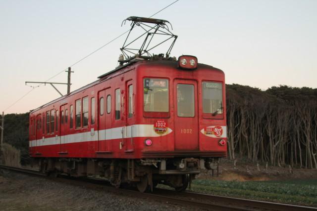 銚子電鉄「デハ1002」最終電車2