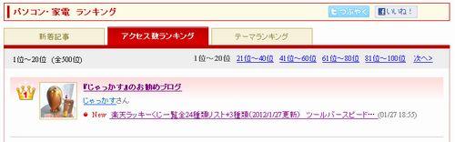 アクセス数ランキング20120128.JPG