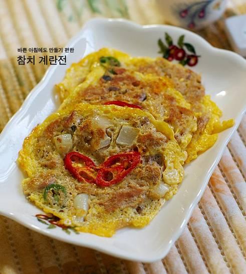 韓国料理 レシピ ツナと卵のジョン