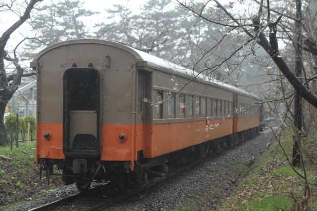津軽鉄道 どしゃぶりの ストーブ列車が行く3