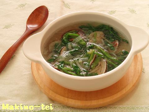 はまぐりとセリの春雨スープ
