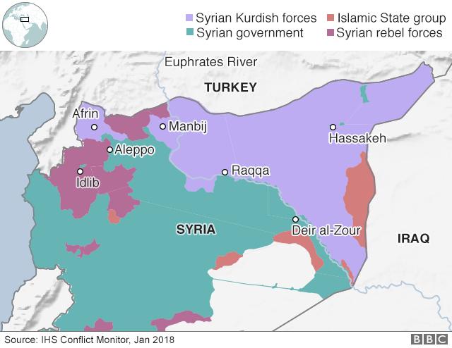 トルコ軍の侵攻のシリア、アフリ...