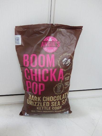 コストコに コストコでお買い物 購入品 戦利品 買ったもの ブーンチカ ポップダークチョコ 998円 Boom Chicka POP ANGIE'S ブーンチカ ポップコーン ダークチョコレート シーソルト