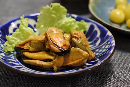 銀杏とムール貝