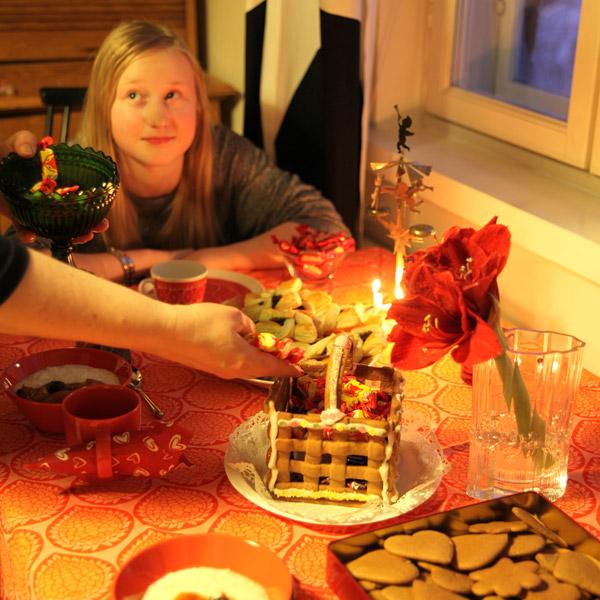 クリスマスのお菓子テーブル