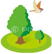 木と小鳥_左