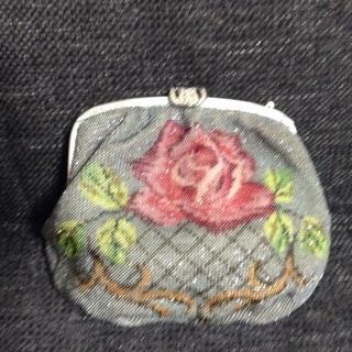 薔薇柄バッグ