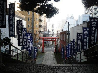 大綱金刀比羅神社2013年2月・上から