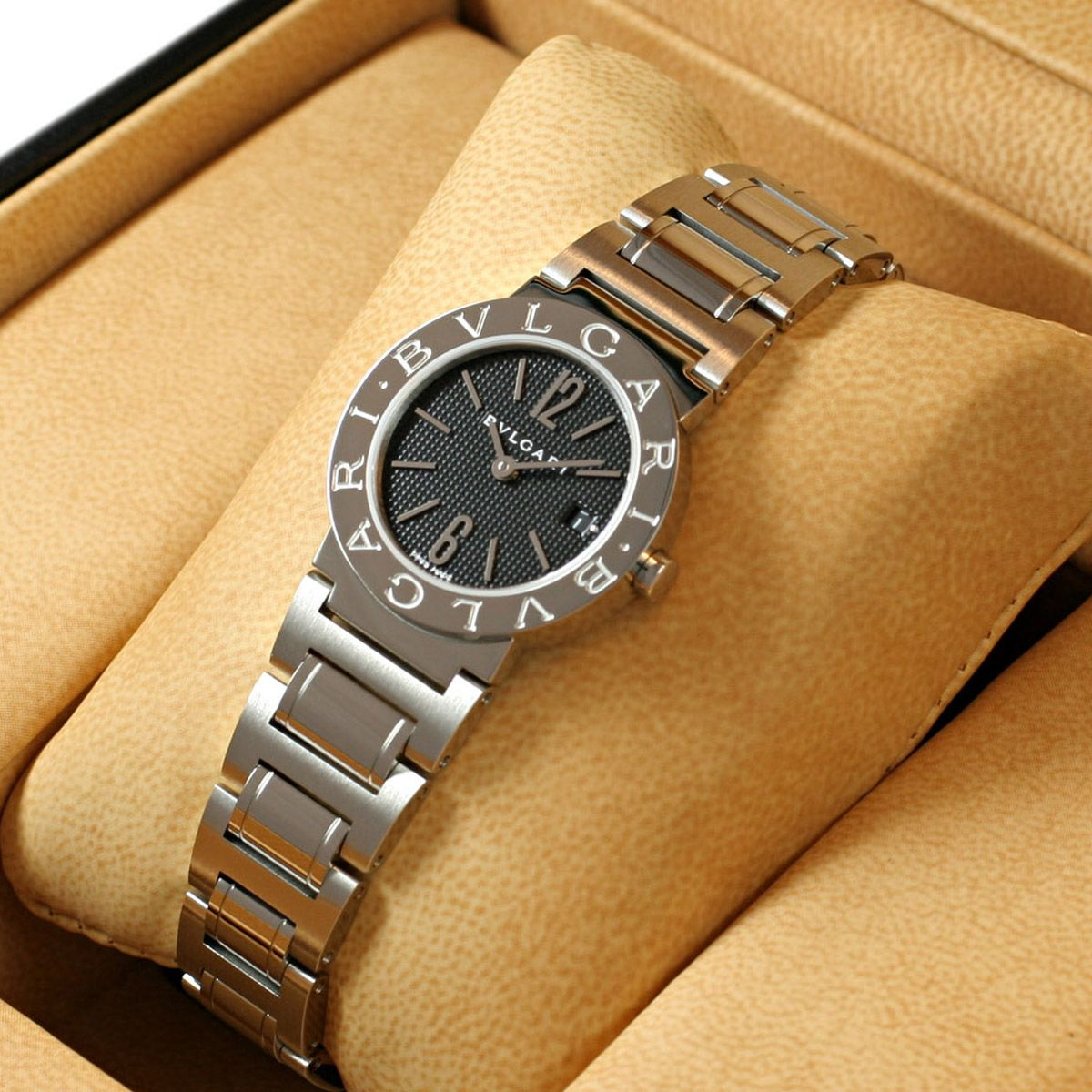 buy popular 0d76b 1567b ブルガリ BB26BSSDN ブルガリブルガリ ブラックダイアル ...