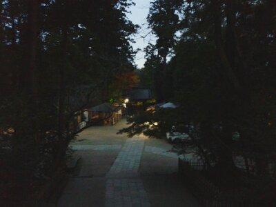北鎌倉円覚寺総門手前夕2012年12月
