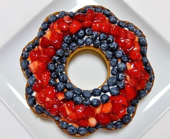 コストコ食材 ブルーベリータルト チーズクリーム Blueberry Tart リースタルト