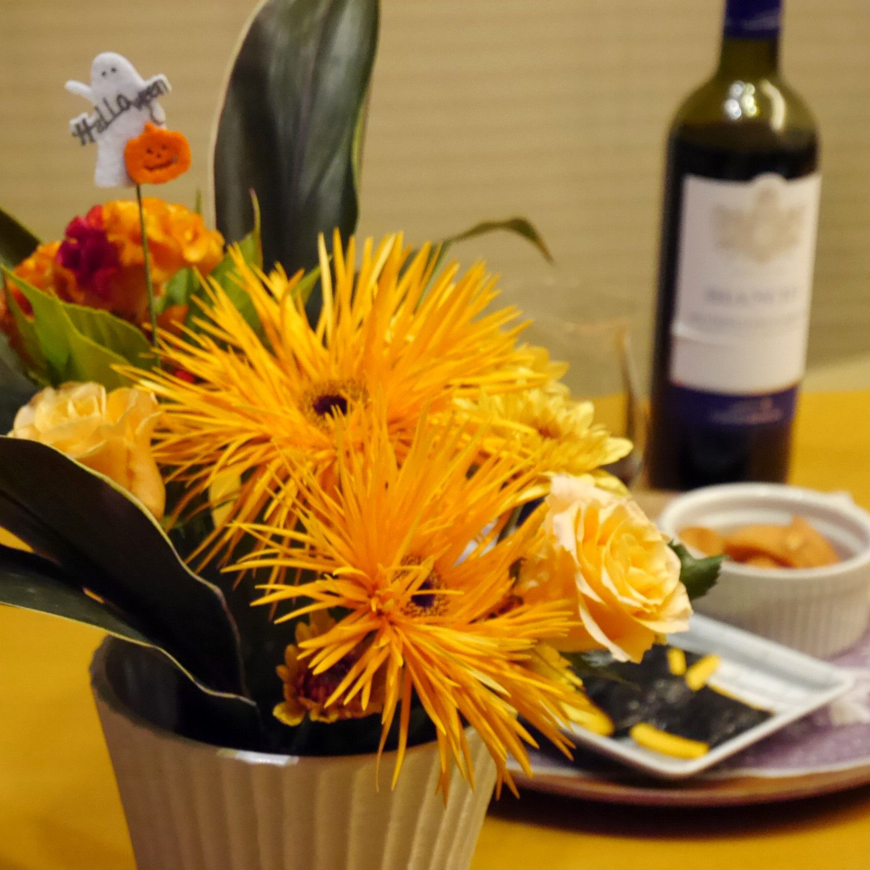 花と料理でハロウィン_アレンジ_up