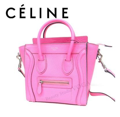 sale retailer 21249 79012 CELINE(セリーヌ) ラゲージ ナノショッパー 2WAYバッグ ピンク ...