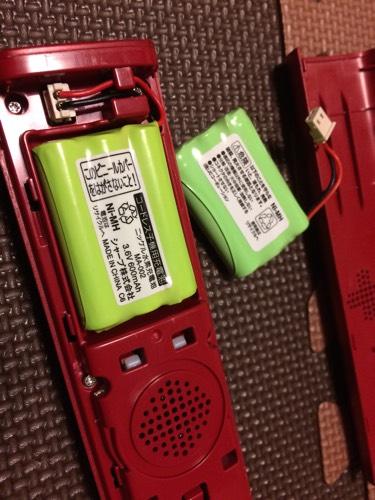 コードレスホンの電池