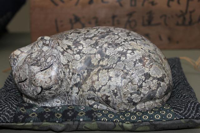 白山紋石の眠り猫