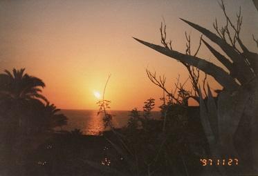 ヤッフォの夕日