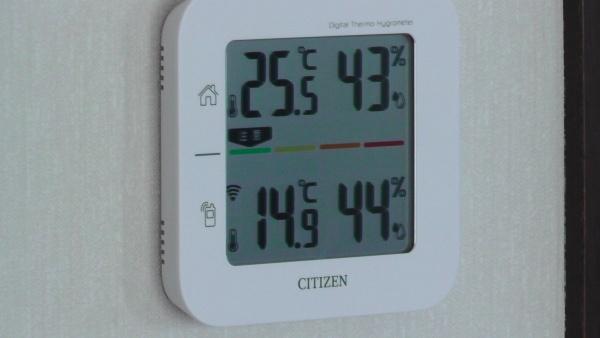 気温が高く室温が上がる