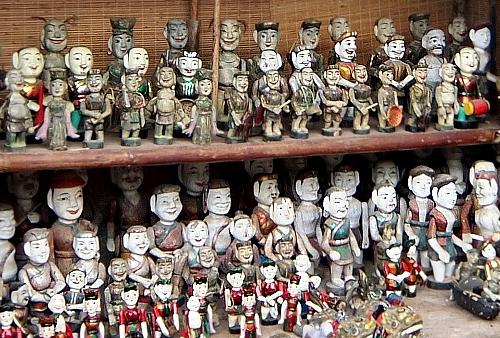 ベトナム ハノイ 廟 水上人形