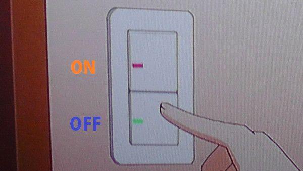 スイッチはONとOFF