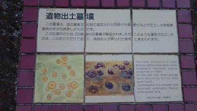 墓跡案内板