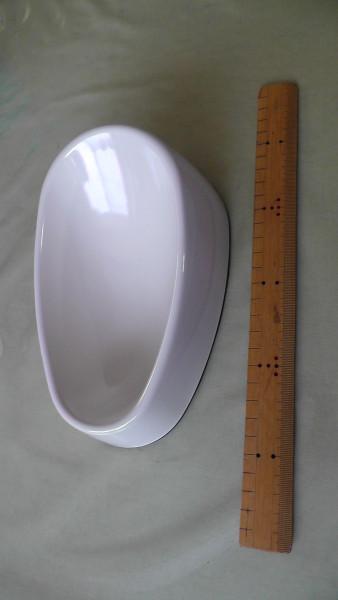 食べやすいメラミン食器縦長型 エサ入れのサイズ