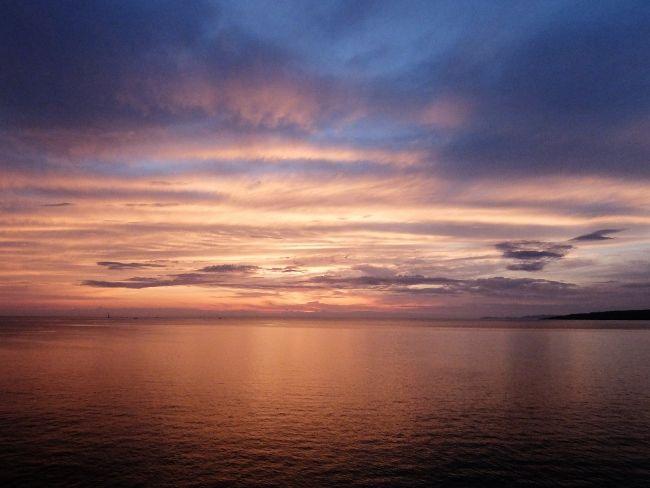 マジックアワー 黄昏 夕日 海