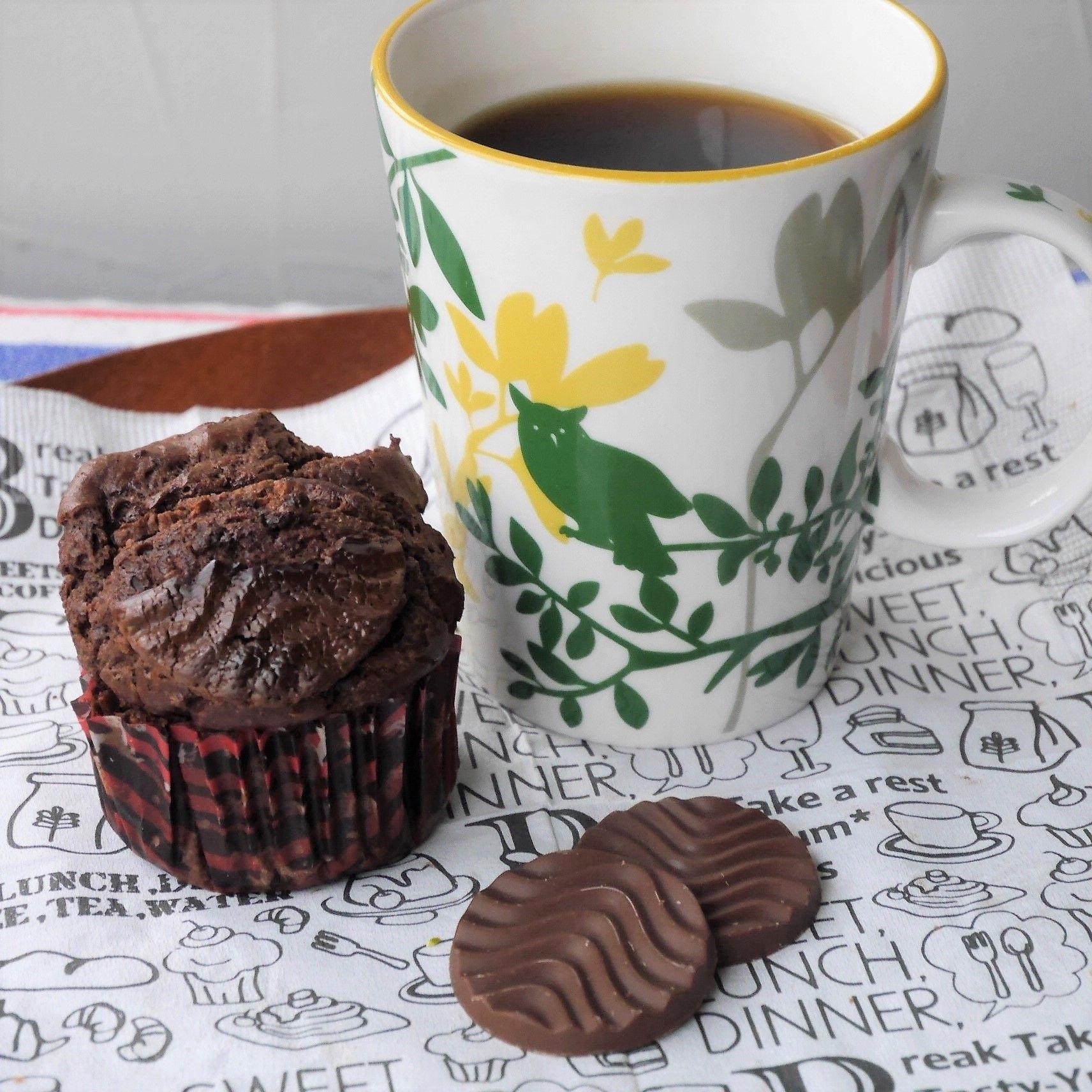 焼きチョコ風カップケーキ_コーヒー