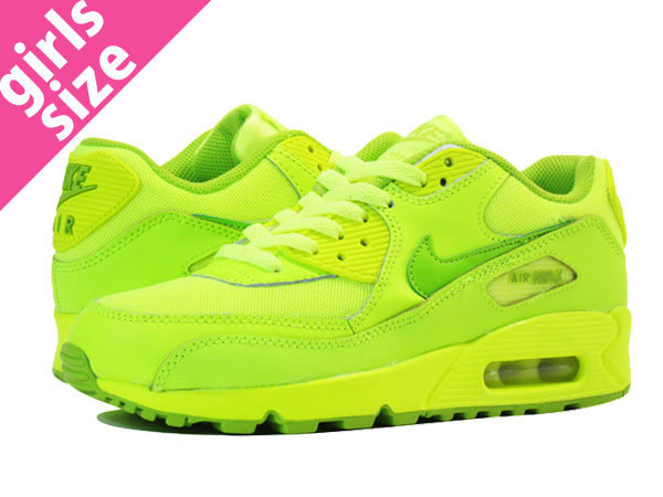 premium selection 9c004 6f719 【送料無料】NIKE AIR MAX 90 GS ナイキ エア マックス90GS VOLT/FIERCE GREEN 307793-700 5-6-3 .jpg