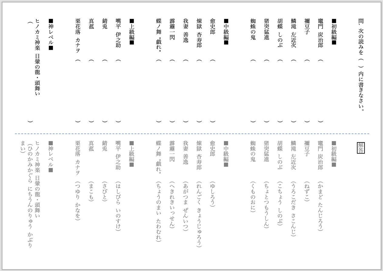 漢字 へきれき いっ せん