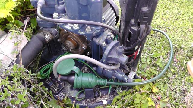 井戸ポンプを延長コードで起動