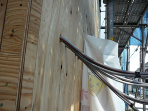 木工事・電気天井配線、断熱材、フローリング