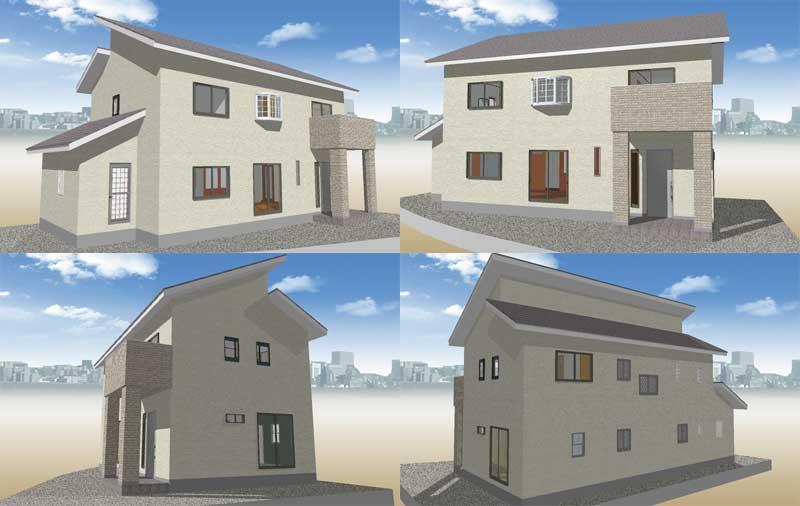 シンプルな外観-タマホームで建てる家