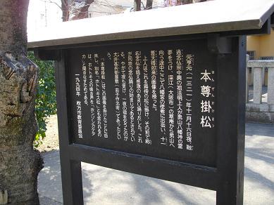 京阪交野市駅周辺 本尊掛松