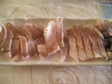 真鯛の昆布〆炙りバージョン