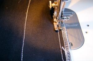 2回ミシン縫い