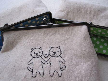 がまぐち 刺繍