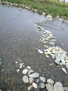 川でリラックス