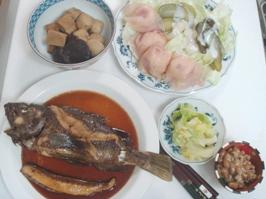魚と野菜の煮物 完全に和食スタイル
