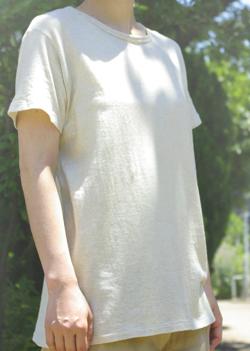 ガーゼ天竺Tシャツ【グリーン】