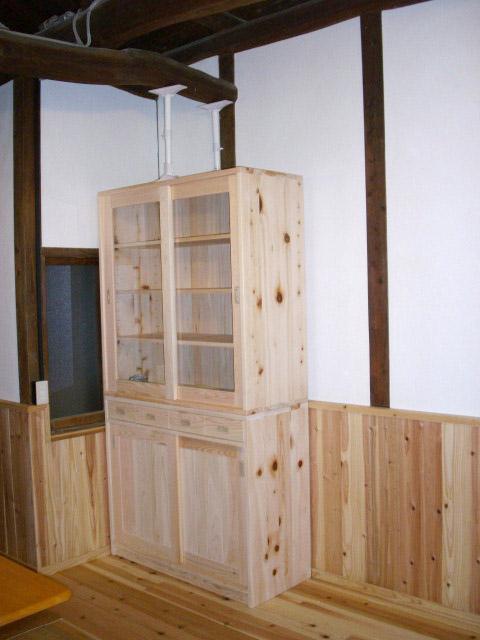 ひのき食器棚